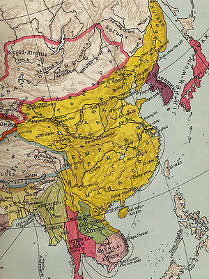 Carte Chine Ming.Dynastie Ming